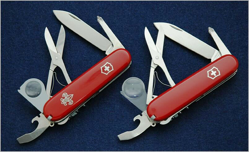 Original Victorinox Yeoman w/ BSA scales (c. 1996) and SwissBianco Limited Edition Yeoman (2006)