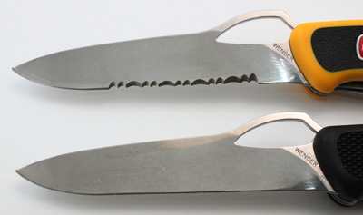 One Handed Opening Plain vs. Serrated Edge Comparison