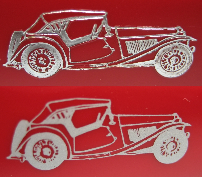 Hot stamped and printed car images