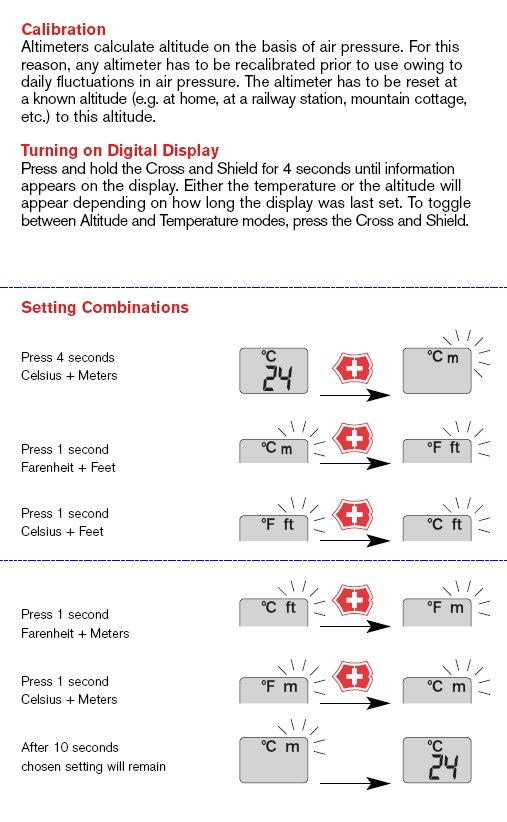 Altimeter Instructions - Page 1
