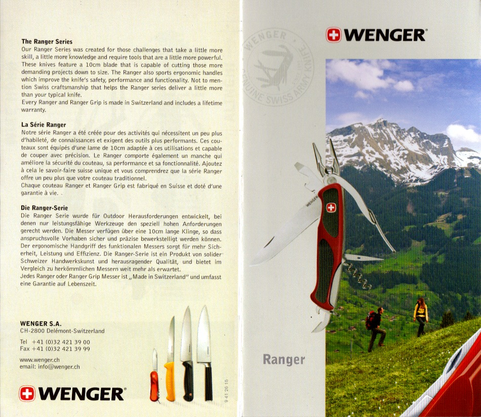 subgallery Wenger 2010 Ranger Series - Pocket Guide