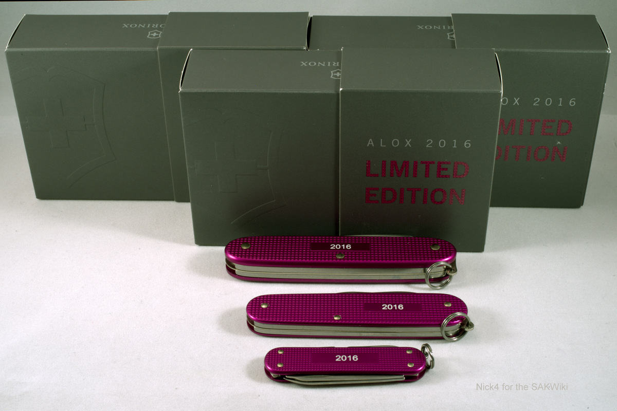 Victorinox Pioneer, Cadet and Classic SD Alox Annual LE 2016.