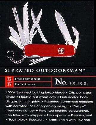 Wenger Outdoorsman Serrated version model 16485