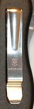 First Pocket-Clip from Victorinox for 111mm knives.  Introduced in 2009.