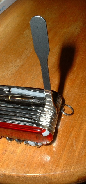 Victorinox Pharmaceutical Spatula on an XLT